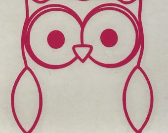 Owl Vinyl Decal Sticker/Owl/Bird/Vinyl/Decal/Sticker/Yeti Decal/Yeti Sticker