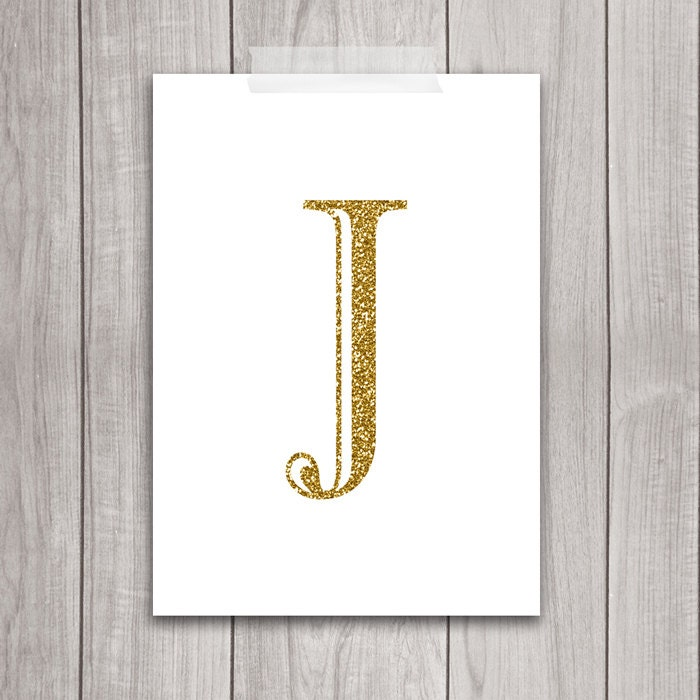 Letter J Wall Art 75% Off Sale Gold Letter Art 5X7 Letter J Wall Art Gold