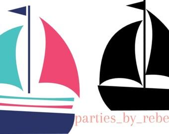 Sail Boats SVG Digital File