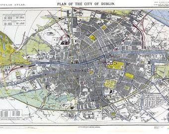 Ireland map art print illustrated map ireland ireland dublin map ireland map irish map city of dublin ireland ireland print publicscrutiny Choice Image