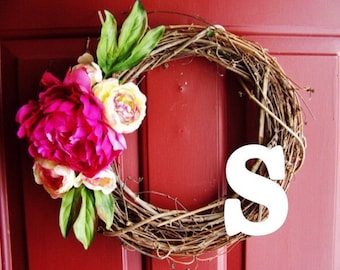 Pink Floral Wreath | Personalized