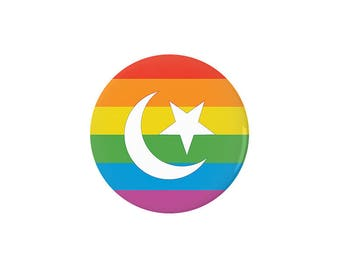 Muslim LGBTQ Pride Flag Pinback Button