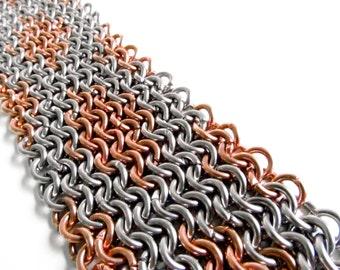 Chainmaille Bracelet - Copper Argyle