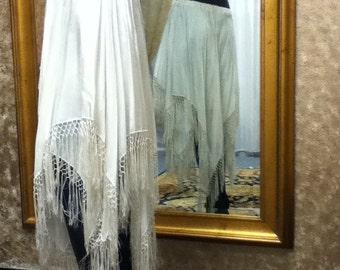 White Silk Habotai Scarf Skirt