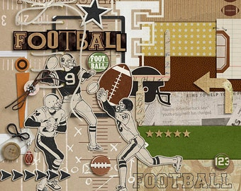 Sports: Football - Digital Scrapbooking kit for sports, football INSTANT DOWNLOAD