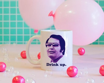 Drink Up Mug, Cults, Jim Jones, Serial Killers, Cult Leader Mug, Dark Humor Mug, Funny Coffee Mug