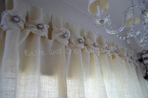 toile de jute large fronc tabs rideau argent blanc bijoux de. Black Bedroom Furniture Sets. Home Design Ideas