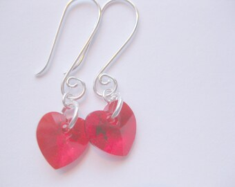 SS Heart Earrings Seaglass jewelry beach glass SS  earrings Beach Glass Jewelry, Handmade Custom Jewelry