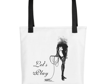 Domme Tote bag BDSM Top FemDom Catwoman White Orange Red Strap (Tote Bag)
