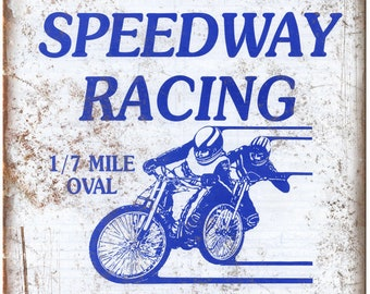 """Baylands Raceway Park Outlaw Speedway 10"""" X 7"""" Reproduction Metal Sign A634"""