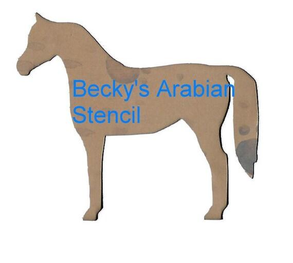 Puppy Bows ~ horse choose Arabian, Tennessee Walker, Friesian,  Morgan, Clydesdale, Hackney plastic craft stencil