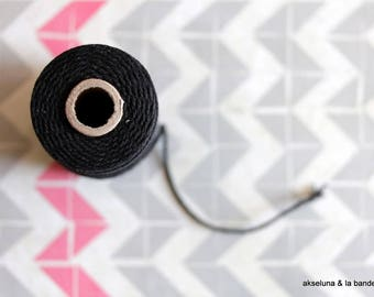 Black coton twine for packaging 10m, black baker's twine