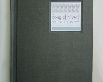 Walt Whitman, Song of Myself, a limited edition handmade book