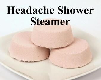 Headache Relief Shower Steamer -  Headache Shower Melt - Essential Oil Shower Steamer
