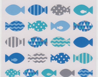 Fish Stickers - Mind Wave Stickers - Reference A2065