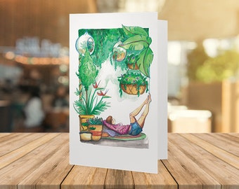 Green House - greeting card.