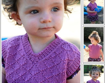 little diamond vest- knitting pattern