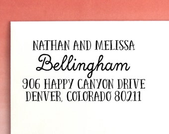 Return Address Stamp | Self Inking Address Stamp | Custom Address Stamp | Return Address Labels |  Personalized Return Address Stamp, No. 36