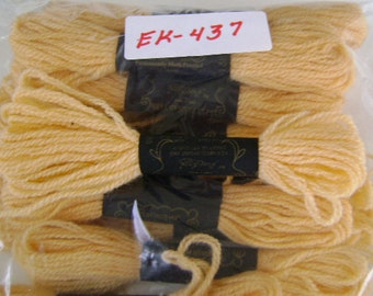 Yarn, Paragon, 100% Wool Crewel Needlepoint, Color #138 Light Tangerine, 8.8 Yds