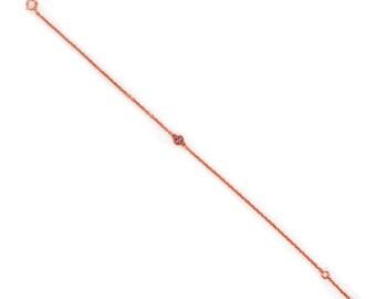 Dainty Chain Bracelet - Rose Gold Bracelet - Delicate Tiny Gemstone Bracelet - Layering Bracelet - Petite Amethyst Bracelet - Birthstone