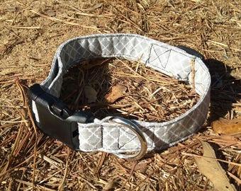 Grey Handmade Dog Collar