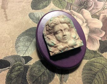 Goddess art nuveau flexible silicone mold/ fondant/ cake decoration