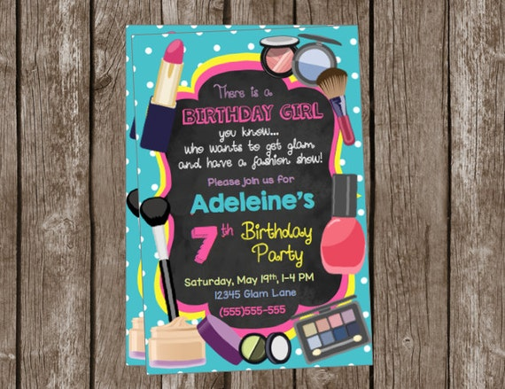 Glam Birthday Invitations Fashion Show Girls Birthday Party