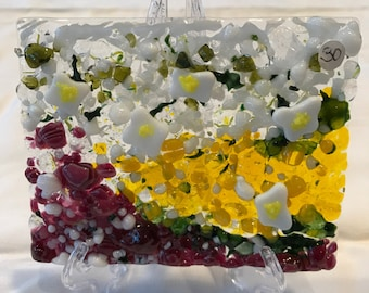 Fused Glass Garden Flowers