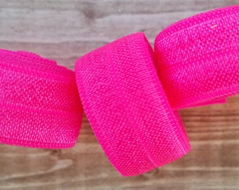 5/8 PASSION FRUIT Fold Over Elastic 5 or 10 YARDS