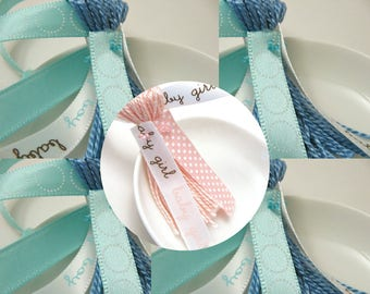 Baby Shower Ribbon Tassel Decoration Favor Embellishment Custom Tassel Choose Your Ribbons