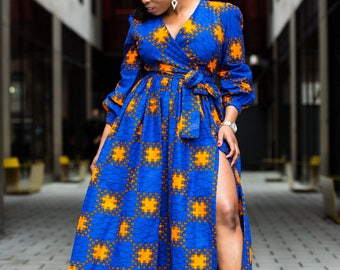 Long ankara dress, print dress, gathered dress, african print dress, ankara dress, maxi dress, maxi, dress, african clothing