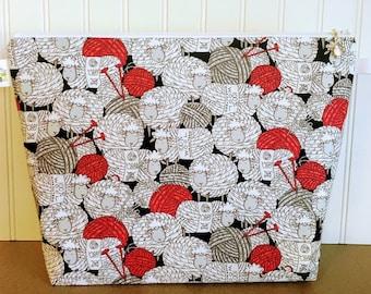 Large Yarn Ball Sheep Knitting Project Bag