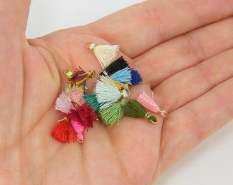 Teeny Tiny Tassels Mini Tassels Jewelry Tassels Earring Tassels Craft Tassels Short Tassels Thread Tassels Fringe Fiber Charms  12
