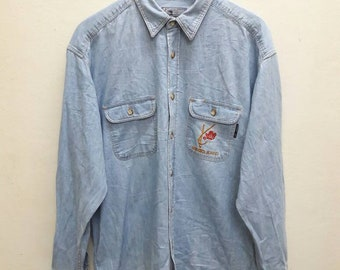 Vintage Kenzo Jeans Denim Shirts Button Ups Long sleeve