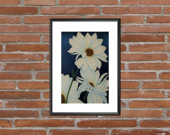 Daisy Wall Art, Daisy Wall Decor, Daisy Art Print, Country Art Print, Country Wall Art, Rustic Wall Print, Flower Wall Art, Flower Art
