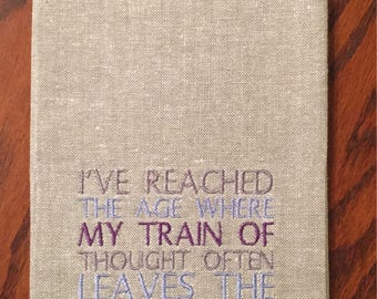 Thought Train Tea Towel