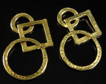 20 pcs Antique Gold Multi-Shape Pendant 35x21x4mm, Nickel-free