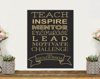 Teacher's Gift, Chalkboard Sign, Custom Engraved Chalkboard Sign, Grandparents Gift, Custom Sign for Classroom, wall art --27938-C002-009