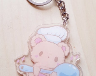 Chef Bear and Spoon Kawaii Acrylic Charm
