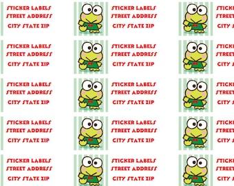 Personalized address labels of Keroppi (sheet of 30)