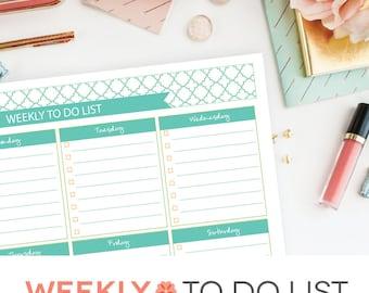 To Do List Printable Checklist - EDITABLE PDF Weekly Goal Tracker