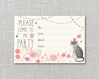Kitty Party Party Invitation, Printable Instant Download, PDF, Kids Party,