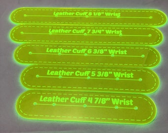 Leather Wrist Cuff Templates