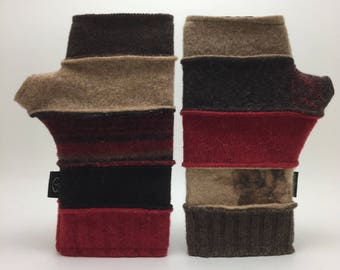 Baabaazuzu Felted Wool Fingerless Gloves