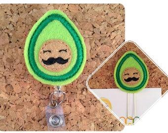 Avocado Badge Reel, Dietitian Badge Reel, Magnet, Planner Clip, Bookmark, Pin, Felt Lanyard, Retractable Badge Holder, Teacher Gift, 909