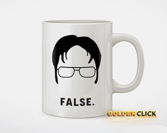 Dwight Schrute False Funny Coffee Mug