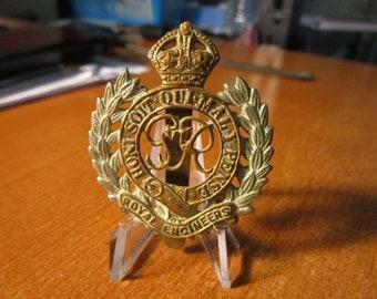 1949 British Army Corps Of Royal Engineers KK1941 Cap Badge #1800