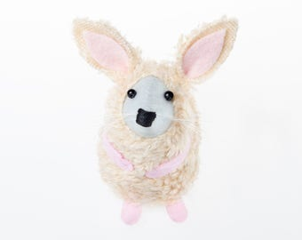 Easter Bunny Mouse - collectable art rat artists mice cute soft sculpture rabbit toy stuffed plush doll gift for Easter mum wife girlfriend