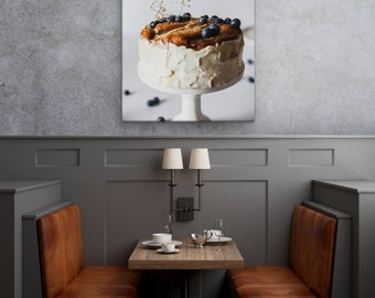 Cake Sweets Large Canvas Wall Art Print Wall Decor Print Wall Art Canvas Art Multi Panel Set Photo Cacao Cocoa Kitchen Restaurant