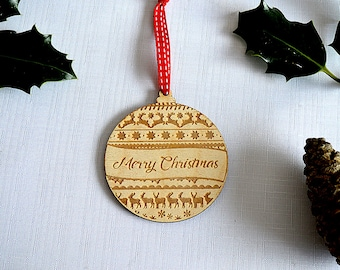 Merry Christmas Bauble - Christmas Tree Decoration